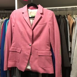 Banana Republic pink tweed like blazer size 6